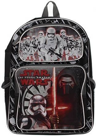 未知品牌 Backpack Star Wars Ep7-16 Kylo Ren /& Stormtroopers New SWE7B