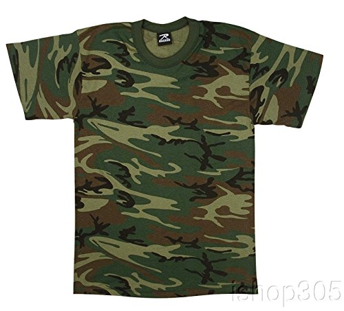 Rothco Vintage T-Shirt, Woodland Camo, Medium