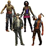 McFarlane Toys The Walking Dead COMIC Series 1 Set of 4 Action Figures Officer Rick Grimes, Michonne, Zombie Roamer Lurker by Unknown