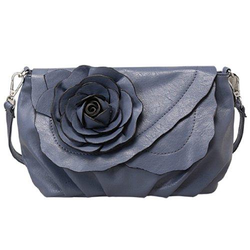 Mellow World Peony Cross-body Handbag (Blue), Bags Central