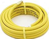 Yellow 3/8'x25' GoodYear/Continenal Rubber Air Hose Tool Compressor Grease USA