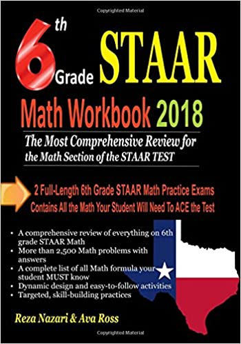6th Grade Staar Math Workbook 2018 The Most Comprehensive Review