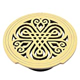 uxcell Acoustic Electric Guitar Feedback Buster Hollow Knotting Pattern Wood Sound Hole Cover Block Protector