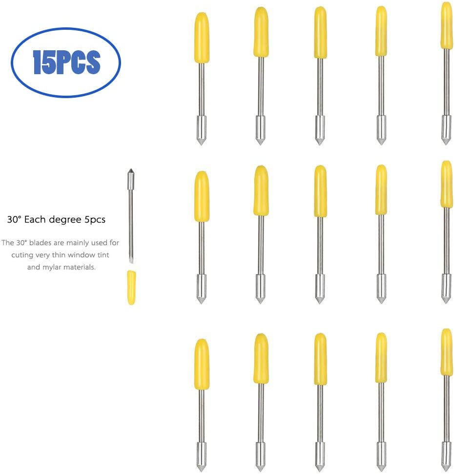 Graphtec Blade CB09 CB09U 15PCS 30 ° Blades, Vinyl Cutter Plotter Cutting Blades (Graphtec 30 °) … (Graphtec 30°): Amazon.es: Bricolaje y herramientas