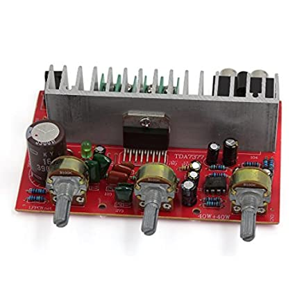 40W + 40W Áudio Hi-Fi Car Conselho Amplificador de Potência