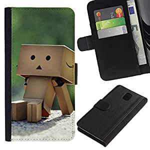 All Phone Most Case / Oferta Especial Cáscara Funda de cuero Monedero Cubierta de proteccion Caso / Wallet Case for Samsung Galaxy Note 3 III // Cute Box box