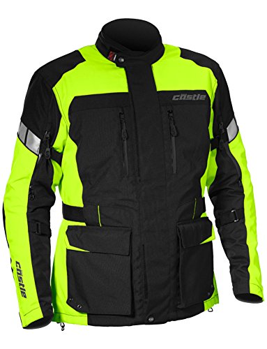 - Castle Distance Mens Motorcycle Jacket - Hi-Vis - LG