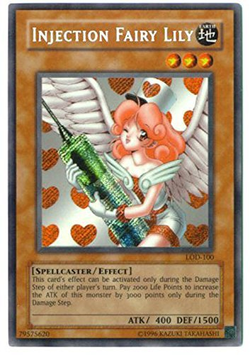 Yu-Gi-Oh! - Injection Fairy Lily (LOD-100) - Legacy of Darkness - Unlimited Edition - Secret Rare