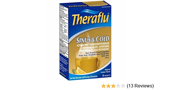Amazon Theraflu Sinus Cold Lemon 6 Ct Health Personal Care