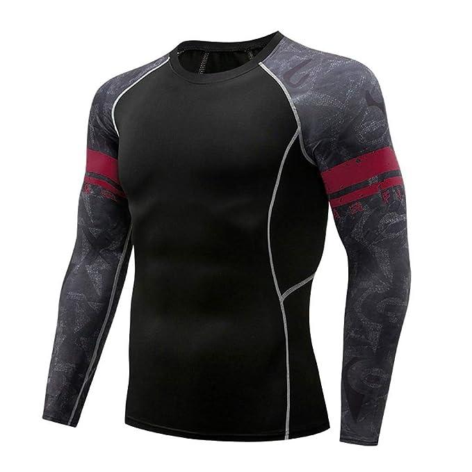 530648b21ba4 YpingLonk Base de Manga Larga para Hombres Camisa de algodón Summer ...