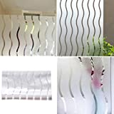 Frosted Window Film Stained Glass Vinyl Wavy Paper Privacy Covering