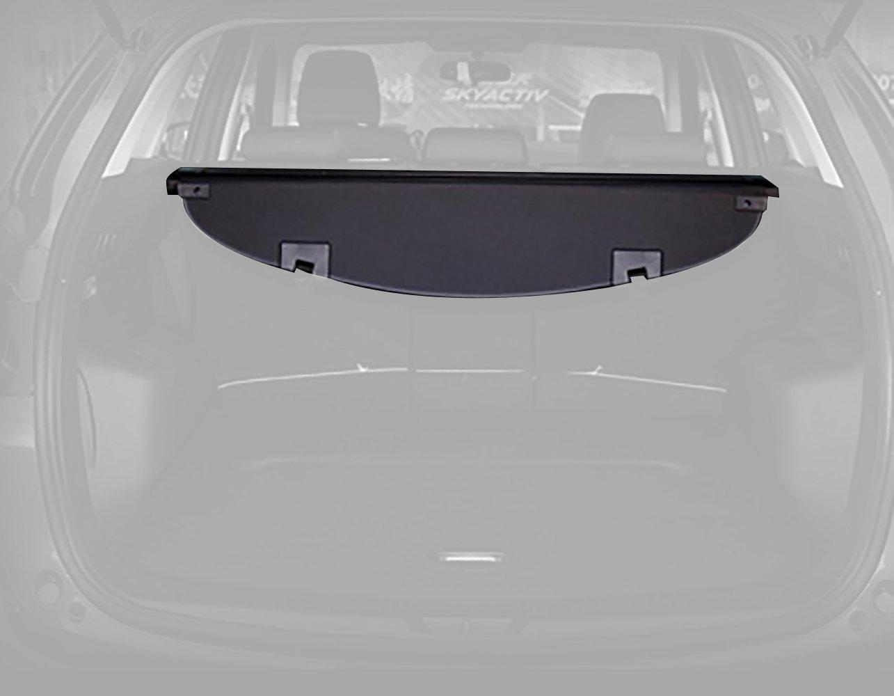 caartonn Cargo cover for 2017 2018 Mazda CX-5 Trunk Retractable Cargo Luggage Security Shade Cover Shield Black