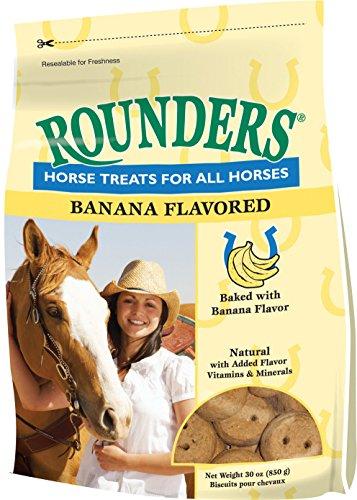 51p4VzC sJL - Banana Rounders Horse Treat 30 oz (850 g)