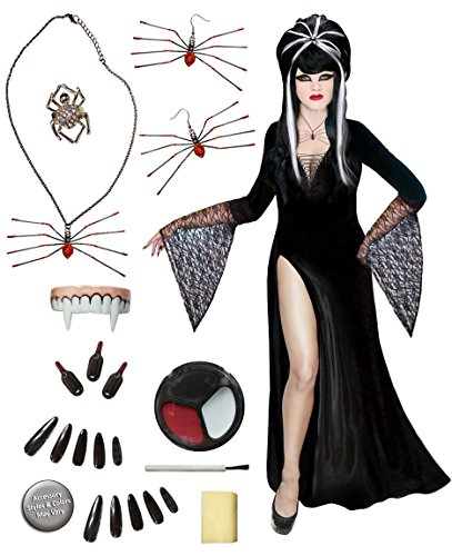 Dark Mistress Plus Size Supersize Halloween Costume Deluxe Wig Kit 1x]()