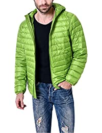 Men's Winter Lightweight Packable Quilted Hooded Down Puffer Jacket