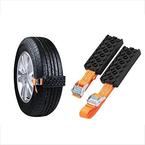 2 Pcs Emergency Snow Chain SENREAL Tire Chain Belt Tire Mud Chain Hard Wearing Snow Tire Chain
