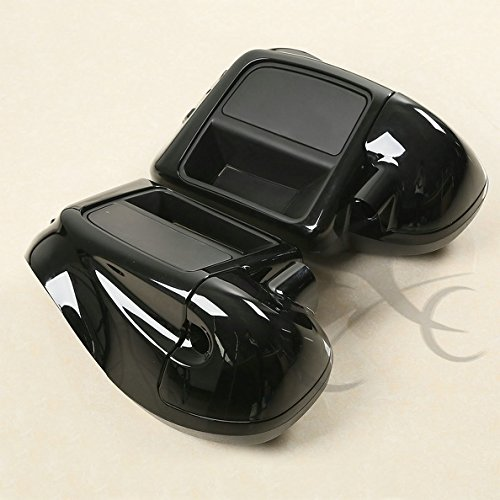 TCMT Black Glove Box Lower Vented Leg Fairings For Harley Touring Electra Glide Road King 2014 2015 2016 2017 2018 by TCMT (Image #1)