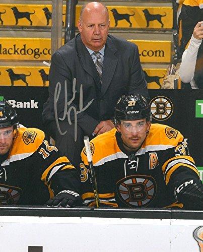 Claude Julien Autographed Photo   Boston Bruins 8X10 Coa B   Autographed Nhl Photos