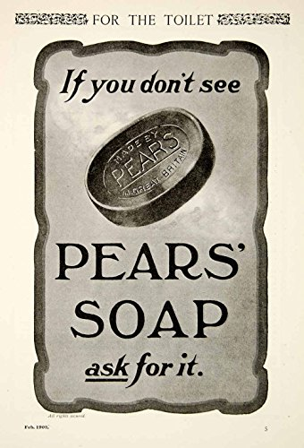 1902 Ad Vintage Pears' Soap Toilet Skin Care Complexion Bar Beauty Health YSN2 - Original Print Ad from PeriodPaper LLC-Collectible Original Print Archive