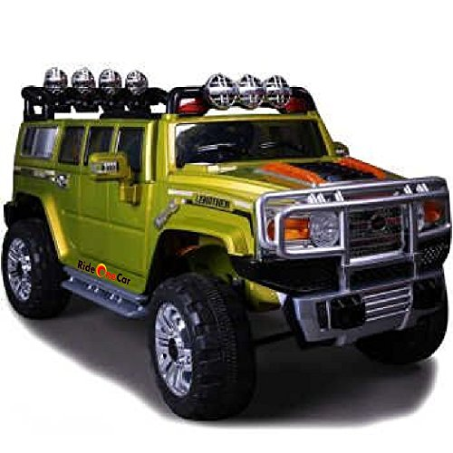 rideONEcar. HUMMER STYLE JJ 255 A RIDE ON TOY CAR BATTERY OPERATED REMOTE CONTROL GREEN - Hummer H3 Ride On