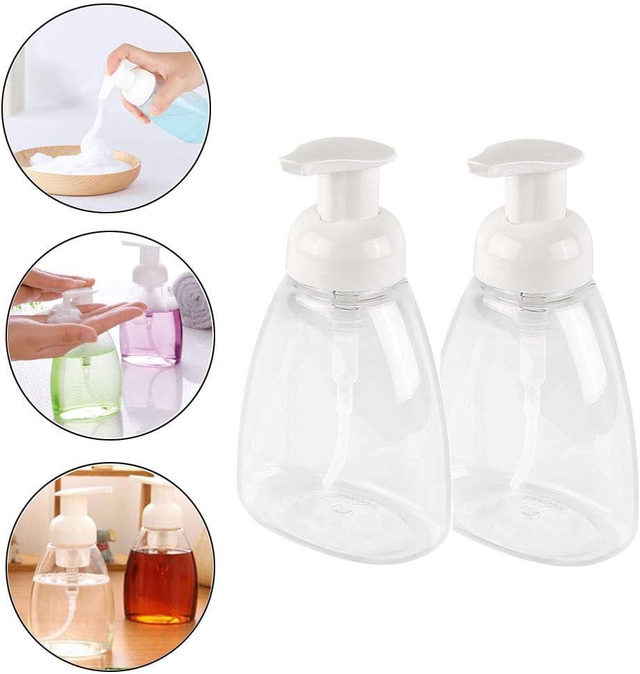 ISKYBOB 2 Piezas Espuma Dispensador de jabón Vacío Transparente Botella Rellenable con Bomba Plástica para champú, 250ml / 8.8oz
