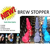 Brew Stopper 6 Pack Ideal Wine Stopper Beer Stopper Spirt Compare to Rabbit Wine Stopper champagne stopper Model: BStop6 (Home & Kitchen)