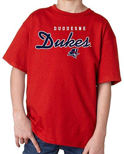 Youth T-shirt Script (J2 Sport Duquesne Dukes NCAA Machine Script Youth T-shirt)