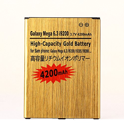 Cheap Replacement Batteries Gold Extended Samsung Galaxy Mega 6.3 High Capacity Battery B700BC B700BE B700BU..