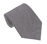 Versace Light Grey Woven Honeycomb Tie