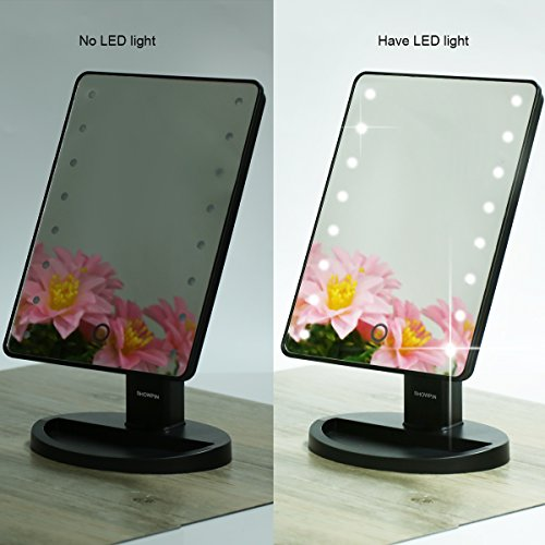 Vanity Mirror With Lights Tabletop : Showpin Lighted Vanity Mirror With Lights,Tabletop Cosmetic Mirror with eBay