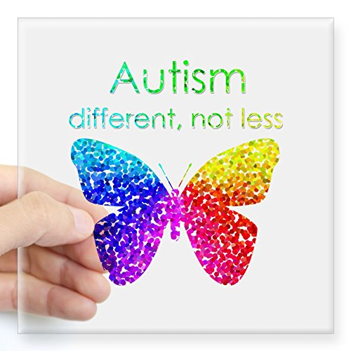 CafePress Autism Butterfly different Sticker