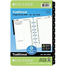 """Day-Timer Planner Refill, Two Page Per Day, January - December 2018, 5-7/16"""" x 8-1/2"""", Desk Size (92010)"""