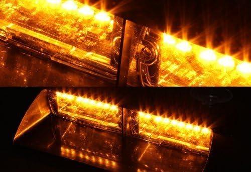 Anzene16/LED haute intensit/é LED Police durgence Danger avertissement lumi/ère stroboscopique 18/modes pour int/érieur Toit//Dash//pare-brise avec ventouse