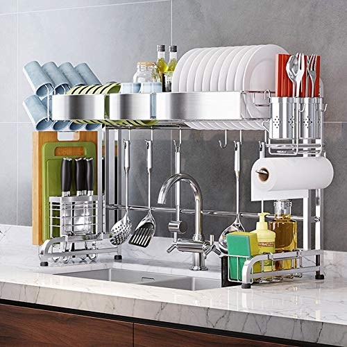 Dish Drainer Rack Holder 304 Stainless Steel Kitchen Racks Pool Drying Dishes Dishes Storage Supplies Dish Rack Sink Drain Rack