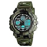 Kids Digital Sport Watch, Boys Girls Waterproof Sports Outdoor Watches Children Casual Electronic Analog Quartz Wrist Watches with Alarm Stopwatch (Camouflage)