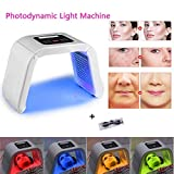 4 Color Light Therapy Mask Acne Treatment, LED Photon Mask Facial Therapy Unlimited Sessions for Face Skin Care Rejuvenation, Curing Acne Spot Wrinkle Scar Anti-Aging