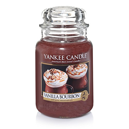 - Yankee Candle Large Jar Candle, Vanilla Bourbon