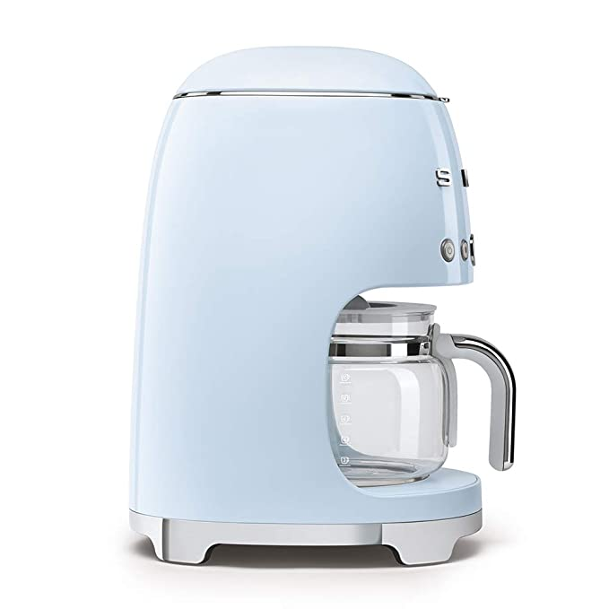 Smeg Cafetera de Goteo DCF01PBEU semiatumatica, Filtro Permanente, 1050 W, 1.4 litros, plástico, Azul
