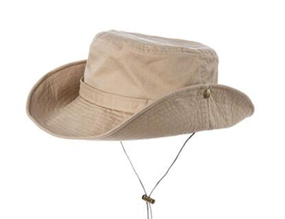 FH Sommer-Koreanische Version der zusammenklappbaren Sonnenhut UV Schutzkappe Fischer Hut (Farbe   Beige, Größe   One Größe58cm)