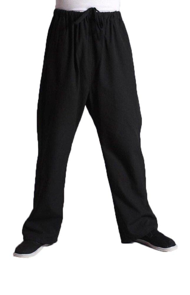 Pantalones de artes marciales de algodón para hombre, marca ZOOBOO