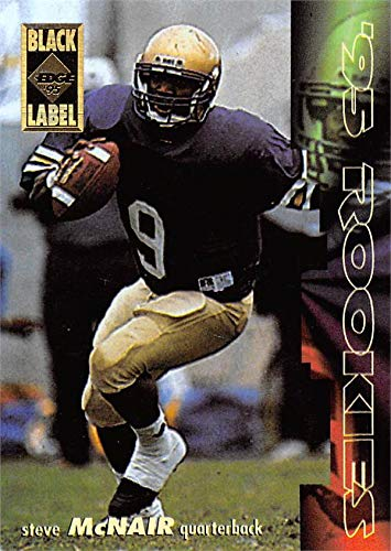 Collectors Edge Autographed Card - Steve McNair Football Card (Alcorn State) 1995 Collectors Edge Black Label Rookie #6
