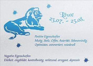 Schneidebrett aus Glas mit Sternzeichen Löwe 20 x 28 cm in ...