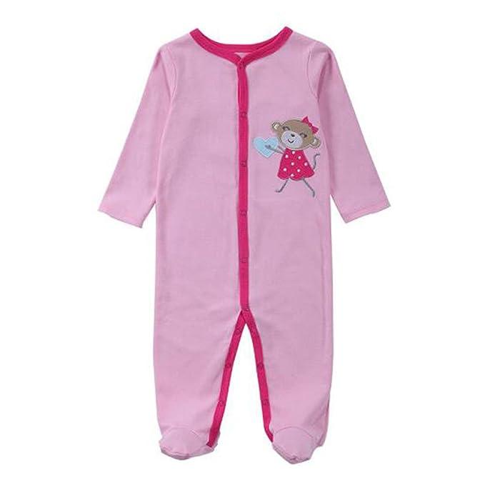 Hzjundasi Recién nacido Bebés Niñas Algodón Pijama Infantil Manga Larga Romper Monos Invierno Otoño Playsuits Ropa