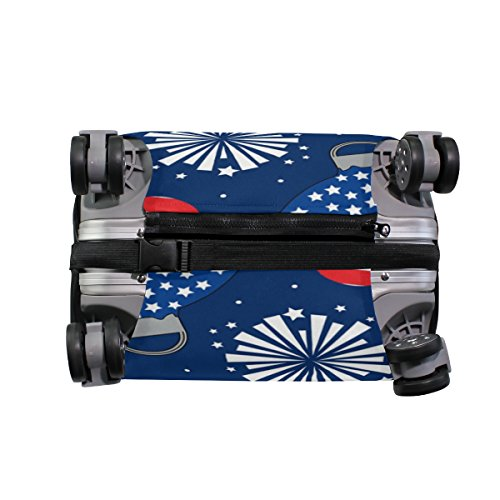 American USA Heart Love Striped Stars Red Navy Suitcase Luggage Cover Protector for Travel Kids Men Women by ALAZA (Image #2)