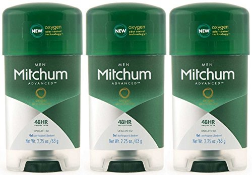 Free Anti Perspirant Gel Alcohol - Mitchum Clear Gel Anti-Perspirant & Deodorant, Unscented for Men, 2.25 Oz (3 Pack)