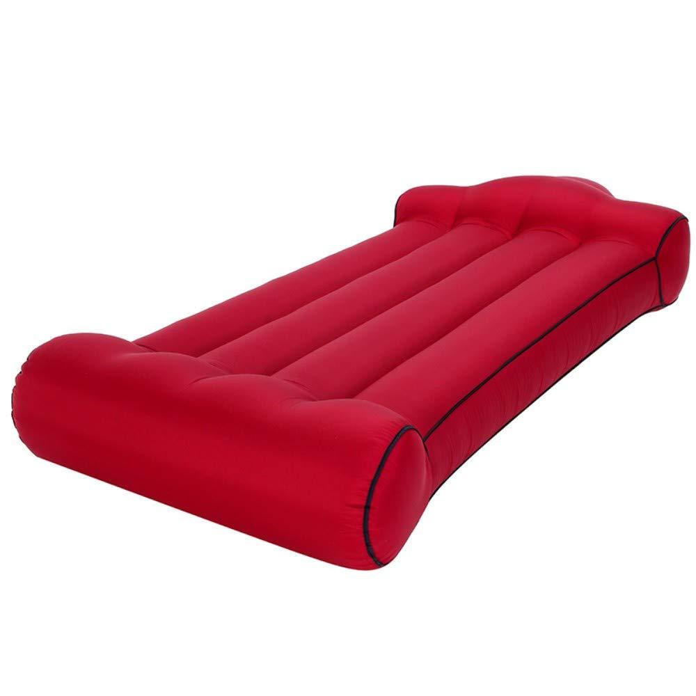 rouge  lxynzs Canapé Gonflable de la Chaise Longue Gonflable sur Les chaises de Plage Vent Mobilier d'extérieur portable pour Festival de Camping avec Piscine Voyage Packs pour Bains de Soleil