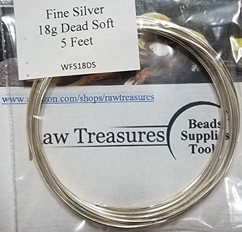 (18 gauge .999 Fine Silver Wire Soft Temper 5)