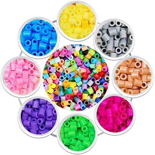 Pcs 5mm 24 Colors Perler Beads with Pegboards Tweezers Peg Boards Ironing Paper Accessories for Boys Girls 5 6 7 8 Age Childrens Educational Crafts Gift Bolin Fuse Bead Craft Kit 4300