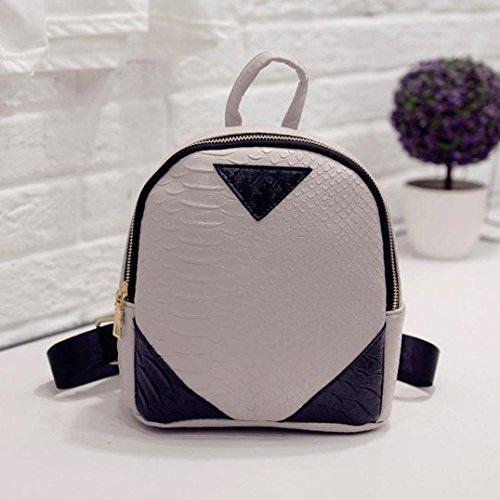 Book Rucksack Gray Bag Canvas Backpack Women School Kemilove Shoulder Serpentine concise 10ZTEq