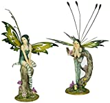 Design Toscano Lochloy House Fairy Twins Statue Set